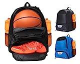ERANT Basketball Backpack with Ball Compartment – Basketball Bags with Ball Holder – Basketball Bag Backpack – Basketball Bags for Boys – Backpack for Basketball (Black)