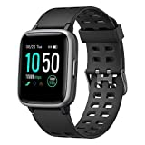 YAMAY Smart Watch for Android and iOS Phone IP68 Waterproof, Fitness Tracker Watch with Heart Rate Monitor Step Sleep Tracker, Smartwatch Compatible with iPhone Samsung, Watch for Men Women (Black)