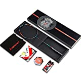 Kawasaki- Professional Badminton Racquets with gift box, 100% high level grahite with free gifts strings and grips