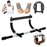 Kampkin Home Exercise Pull Up Bar for Doorway Multifunctional Portable Gym System,Home Gym Exercise Equipment Training Body Workout Bar