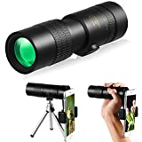 4K 10-30x40mm Zoom Monocular Telescope with Smartphone Holder and Tripod for Adults Kids, Waterproof Fogproof HD Monocular Scope for Bird Watching Hunting Hiking Concert