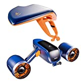 WINDEK Sublue WhiteShark Mix Underwater Scooter with Action Camera Mount Dual Motor 40M Waterproof Electric Scooter for Water Sports Diving & Snorkeling & Sea Adventures (Space Blue)