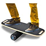 BONA Balance Board Trainer for Fun, Challenging Fitness and Sports Training, Comes with 29.1' X 10.8' Non-Slip Deck, 3.9' Roller