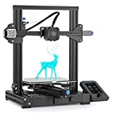 Official Creality Ender 3 V2 Upgraded 3D Printer with Silent Motherboard Meanwell Power Supply Carborundum Glass Platform and Resume Printing 220x220x250mm