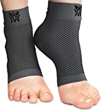 Bitly Ankle Brace for Foot Support - Ankle Compression Sleeve for Heel & Ankle Pain Relief - Neuropathy Nano Socks for Men & Women (Gray, Medium)