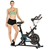 ANCHEER Spin Bike with Belt-Driven 40lb Flywheel, Quiet & Comfortable Stationary Indoor Exercise Spinning Bike, Indoor Cycling for Home Cardio Workout with Adjustable Seat & Resistance (black)