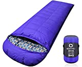 ECOOPRO Down Sleeping Bag, 0 Degree F 650 Fill Power (1500g Duck Down) Cold Weather Sleeping Bags - Compact Portable Waterproof Camping Sleeping Bag with Compression Sack for Adults, Teen, Kids