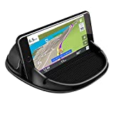 Loncaster Car Phone Holder, Car Phone Mount Silicone Car Pad Mat for Various Dashboards, Slip Free Desk Phone Stand Compatible with iPhone, Samsung, Android Smartphones, GPS Devices and More
