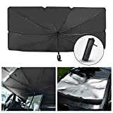 Car Sun Shade for Windshield Foldable Automotive Windshield Sunshades Car Umbrella for Front Window, Easy to Store and Use Fits Windshields of Various Sizes (57'' x 31'')