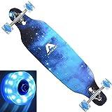 APOLLO Drop Deck Longboard LED - Longboards Skateboard - Long Boards for Teenagers, Kids, Adults - Cruiser Longboards for Teens - LED Longboard Skateboard Girls/Boys