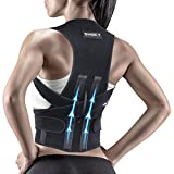 Snoky Posture Corrector for Women and Men, Back Support Straightener, Shoulder Lumbar Adjustable Breathable and Posture Corrector for Improve Posture, for Neck, Back and Shoulder Pain Relie