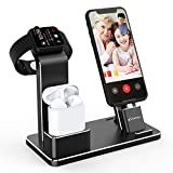 YoFeW Charging Stand for Apple Watch Charger Stand Aluminum Dock Station Compatible for iWatch Apple Watch Series 4/3 / 2/1/ AirPods/AirPods Pro/iPhone X/XS/XS Ma /8 / 8Plus / 7/7 Plus /6S