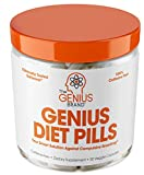 Genius Diet Pills – The Smart Appetite Suppressant That Works Fast for Safe Weight Loss, Natural 5-Htp & Saffron Supplement Proven for Women & Men – Cortisol Manger + Thyroid Support, 50 Veggie Caps