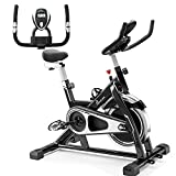 PERLECARE Indoor Cycling Bike, Sturdy Exercise Bike Stationary with 35 LBS Flywheel for Home Cardio Gym, Quiet Belt Drive Bike with Adjustable Handlebar/Seat, LCD Monitor
