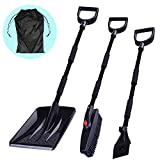 3-in-1 Snow Brush Kit, Collapsible Snow Brush with Ice Scraper and Snow Shovel, Emergency Snow Removal Car Set, Portable Snow Remover for Truck, Camping, Backyard, with Carrying Bag
