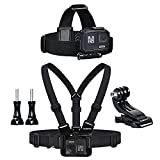Sametop Chest Mount Harness Chesty Head Mount Strap Kit Compatible with GoPro Hero 9, 8 Black, Hero 7, 6, 5, 4, Session, 3+, 3, 2, 1, Hero (2018), Fusion, DJI Osmo Action Cameras