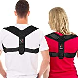 Posture Corrector for Men and Women - Comfortable Upper Back Brace for Clavicle Support, Adjustable Back Straightener and Providing Pain Relief from Neck, Back & Shoulder