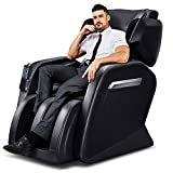 Tinycooper Massage Chairs by Ootori, Zero Gravity Massage Chair, Full Body Massage Chair with Lower-Back Heating and Foot Roller Black