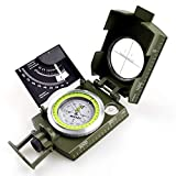 AOFAR AF-4074 Military Camo Compass for Hiking,Lensatic Sighting Waterproof,Durable,Inclinometer for Camping,Boy Scount,Geology Activities Boating