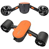 cho Under Water Scooter Dual Propellers Waterproof Dual Speed with Camera Mount for Water Sports Swimming Pool Diving Snorkeling Sea Adventures (Orange)