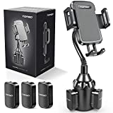 [Upgraded] Car Cup Holder Phone Mount Adjustable Gooseneck Automobile Cup-Holder-Phone-Car-Mount for iPhone 12 Pro Max/XR/XS/X/11/8 Plus/6s/Samsung S20 Ultra/Note 10/S8 Plus/S7 Edge(Black)