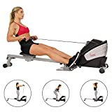 Sunny Health & Fitness SF-RW5622 Dual Function Magnetic Rowing Machine Rower w/LCD Monitor