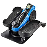 LifePro Under Desk Elliptical Trainer for Home & Office - Calf Leg Foot Pedal Exerciser - Seated Compact Elliptical Bike Machine - Core Fitness Low Impact Exercise Equipment w/Adjustable Resistance