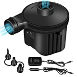 Electric Air Pump, Portable Quick-Fill Aquarium Inflator & Deflator Pool Pump with 3 Nozzles, Perfect for Outdoor Camping, Inflatable Cushions, Air Mattress, Pool Floats, Swimming Ring, Water Toys