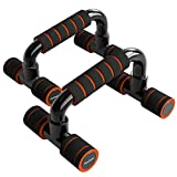 READAEER Push up Bars for Home Gym (Orange)