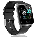 L8star Fitness Tracker Heart Rate Activity Tracker with 1.3 inch IPS Color Screen Long Battery Life SmartWatch with Sleep Monitor Step Counter Calorie Counter for Women Men (Black)