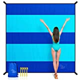 OCOOPA Sand Free Beach Blanket, Extra Large 10x9.2ft, Parachute Nylon Sandproof Waterproof, Comfortable Durable, Stunning Design, Light Weight Compact for Picnic, Vacations