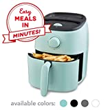Dash DCAF200GBAQ02 Tasti Crisp Electric Air Fryer + Oven Cooker with Temperature Control, Non Stick Fry Basket, Recipe Guide + Auto Shut Off Feature, 2.6Qt, Aqua