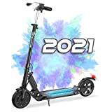 EVERCROSS HB16 Folding Electric Scooter with 8' Solid Tires & 350W Motor, Up to 20MPH & 22 Miles, Suitable for Teens and Adults
