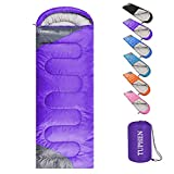 tuphen- Sleeping Bags for Adults Kids Boys Girls Backpacking Hiking Camping Cotton Liner, Cold Warm Weather 4 Seasons (Winter, Fall, Spring, Summer), Indoor Outdoor Use, Lightweight & Waterproof
