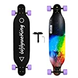 WjlyueKing  Starry Sky Long Skateboard The 41 Inch Long Skateboard for Adult Youth Beginner Girl and Boy T-Tool Included