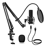 TONOR USB Microphone Kit, Streaming Podcast PC Condenser Computer Mic for Gaming, YouTube Video, Recording Music, Voice Over, Studio Mic Bundle with Adjustment Arm Stand, Q9