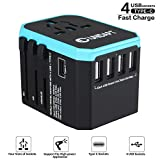 Unidapt Universal Charger Power Adapter, International Travel Adapter - All in one World Adaptor with 5.6A Smart Power & 3.0A USB Type-C US to EU, AU, UK, USA - 160 Countries (Blue)