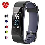 Willful Fitness Tracker with Heart Rate Monitor IP68 Waterproof, Activity Tracker (14 Modes) Pedometer with Step Counter Sleep Monitor,Color Screen,Fitness Watch for Women Men (Gray)