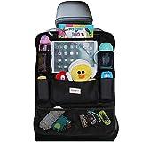 Car Organizer, SURDOCA 4th Generation Enhanced Car Seat Organizer with 10.5'' PVC-Free Tablet Holder, 9 Pockets , Road Trip Essentials for Kids,Car Seat Back Storage Organizer, Black, 1pc