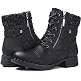 STQ Women's Marion Fashion Boots Women's Combat Booties Black 9