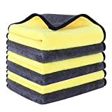Multipurpose Plush Microfiber Cleaning Cloths Towel for Household and Car Washing, Drying, Detailing 600GSM,6 Pack 16 x 16inches