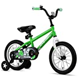 JOYSTAR 16' Pluto Kids Bike with Training Wheels for Ages 4 5 6 Year Old Boys & Girls, Green