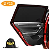 PEYOU Universal Rear Side Baby Car Window Sun Shades,【2021 Upgrade Version】 Breathable Mesh Car Sun Shade-Fit for 95% Cars-Protect Kids Pet from The Sun-Cover Full Window-Travel E-Book-2 PCS