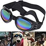 QUMY Dog Goggles Eye Wear Protection Waterproof Pet Sunglasses for Dogs About Over 15 lbs