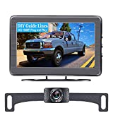 AMTIFO A2 Backup Camera HD 1080P Car Rear View Camera with 4.3 Inch Monitor,Easy Installation System for Cars,Trucks,SUVs,Vans,LED Lights Clear Night Vision,DIY Guide Lines