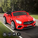 Vosson Electric Kids Cars 12V - Benz Kids Ride On Car Powered with Remote Control, Spring Suspension, Music and Story Playing
