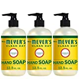 Mrs. Meyer's Clean Day Liquid Hand Soap, Cruelty Free and Biodegradable Formula, Honeysuckle Scent, 12.5 oz- Pack of 3