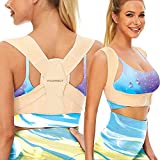Vicorrect Posture Corrector for Women and Men, Adjustable upper back straightener posture corrector and Providing Pain Relief from Neck, Shoulder, and Upper Back L-XL(35'-43')