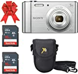 Sony Cyber-Shot DSC-W800 Digital Camera 20.1 MP (Silver) Classic Bundle with 2X 16GB SDHC Memory Card Premium Class 10 and 1 Premium Camera Case