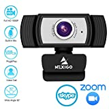 1080P Webcam for Streaming, 2020 NexiGo Web Camera with Microphone, for Zoom Meeting YouTube Skype FaceTime Hangouts OBS Xbox XSplit, Compatible for Mac OS Windows Laptop Desktop Computers Monitors